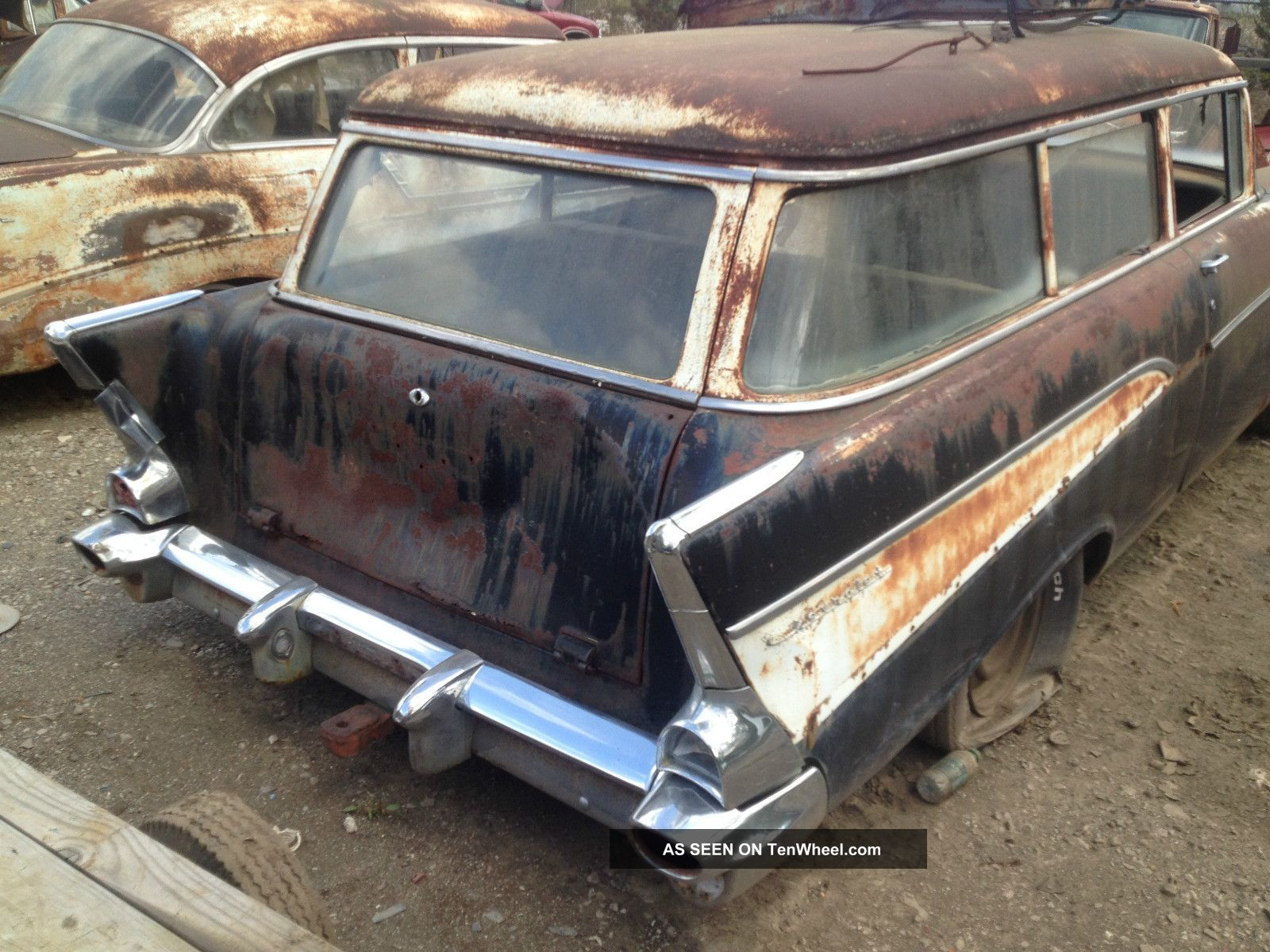1957 Chevy Station Wagon Barn Find Cars Old Wagons Abandoned Cars