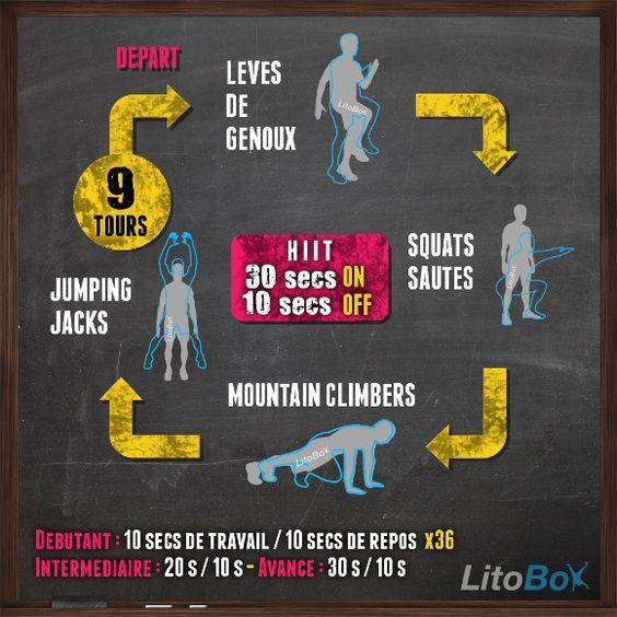 Bien connu Programme de HIIT de 24 minutes #224 | Litobox, Bon courage et Cardio DQ19