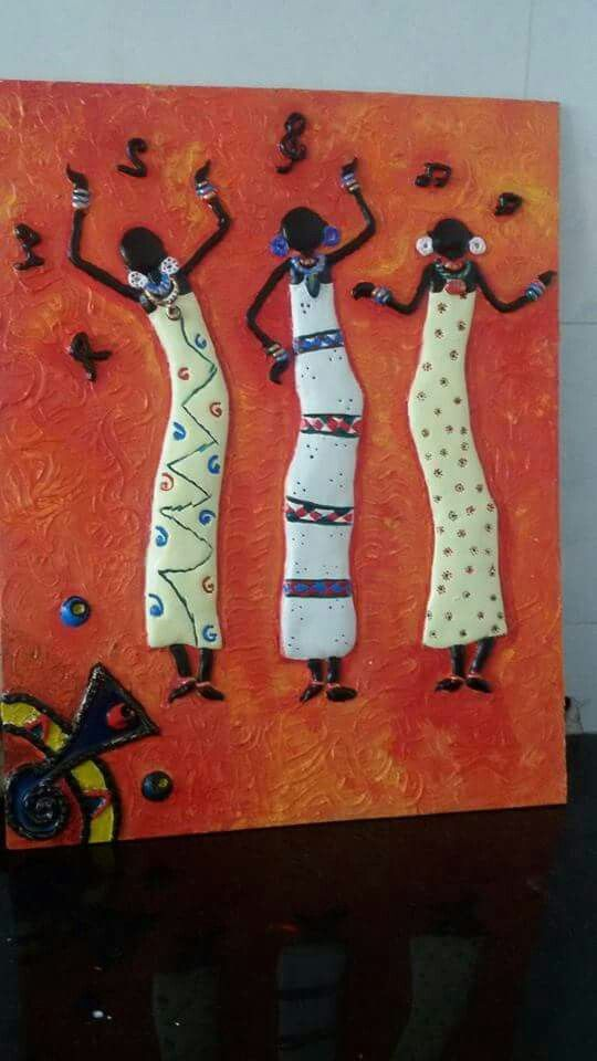 Pin By Vijaya Marellavijaya On Mural Clay Wall Art Elementary Art Projects African Art