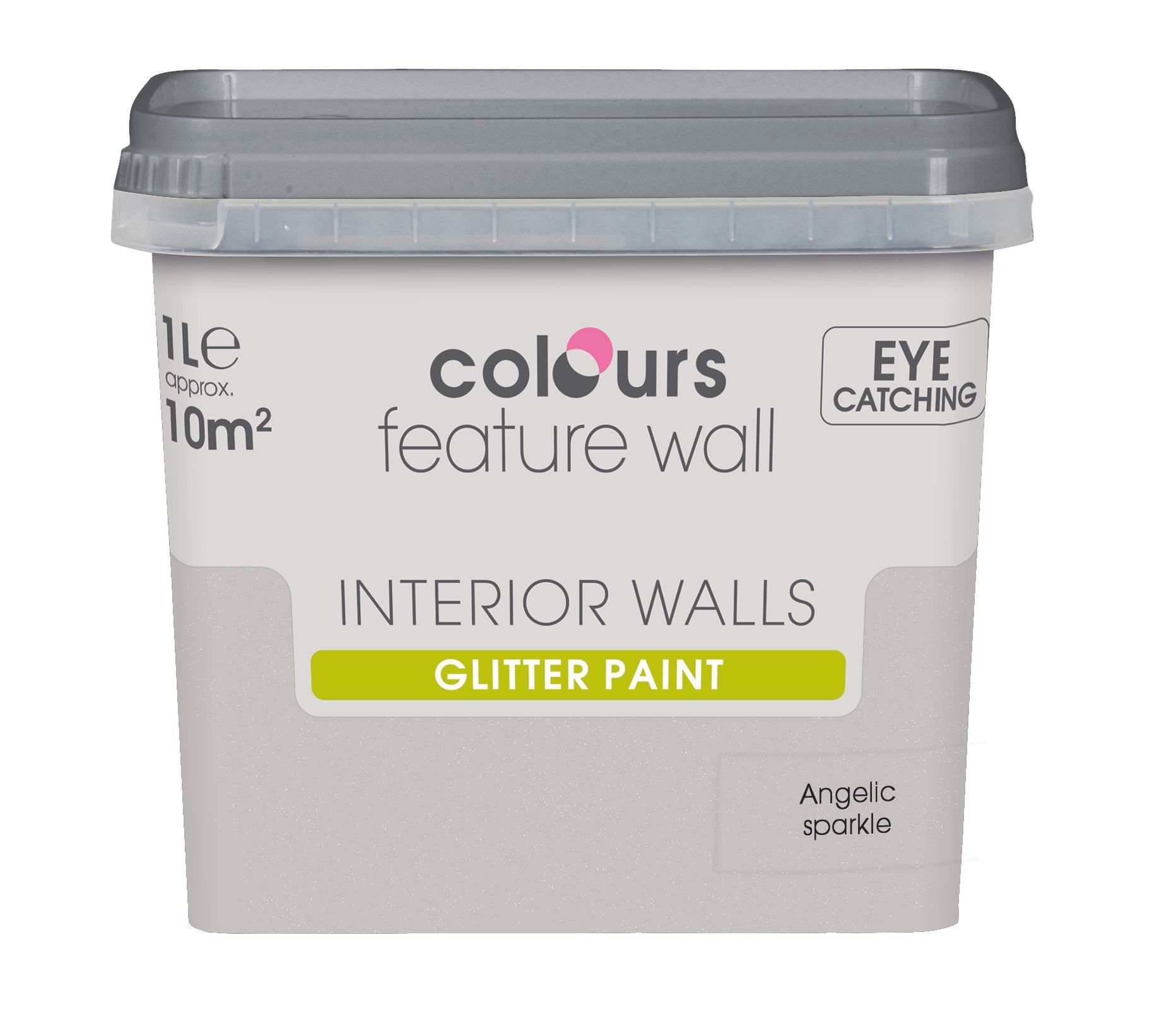 colours feature wall angelic sparkle emulsion paint 1l walls. Black Bedroom Furniture Sets. Home Design Ideas