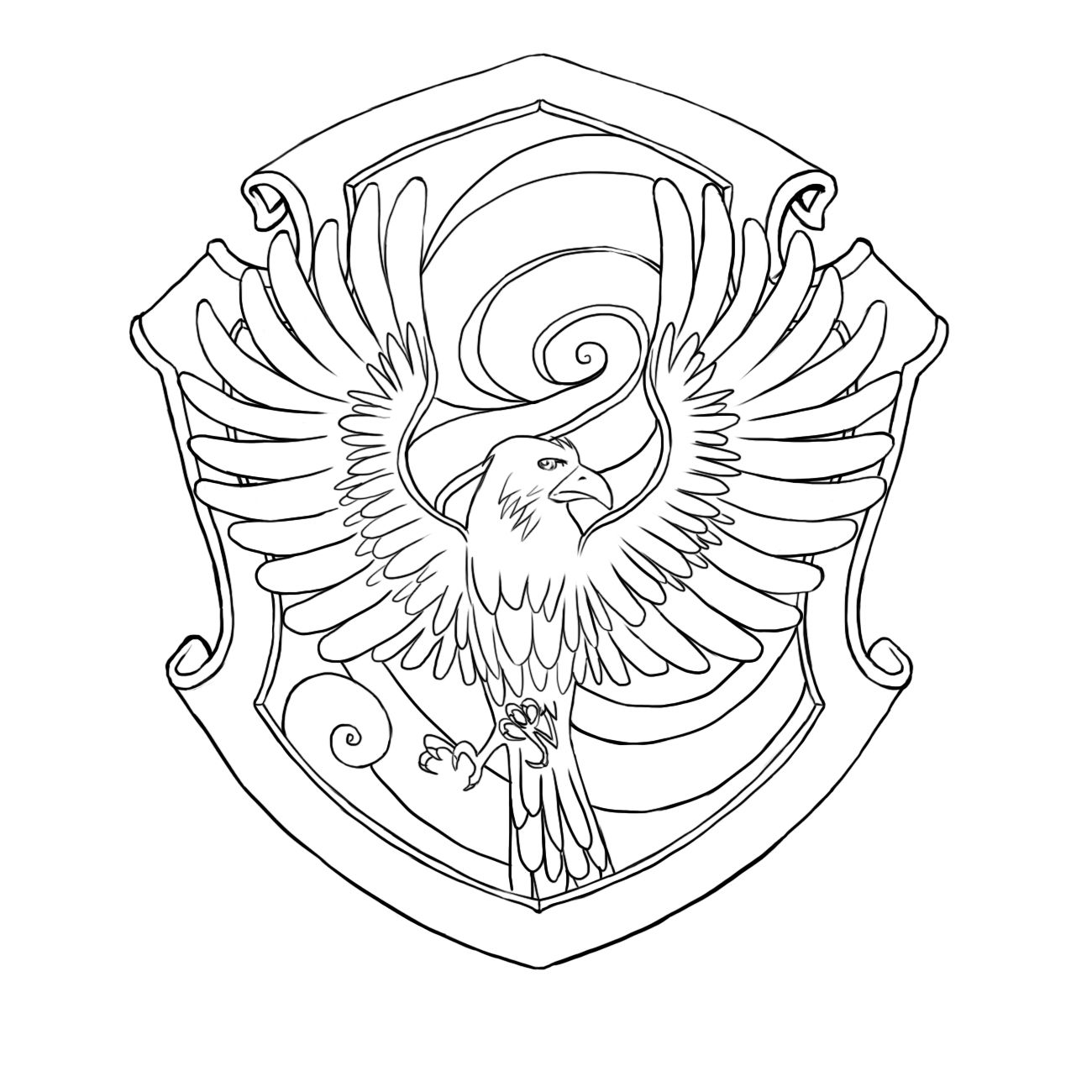Ravenclaw Crest Harry Potter Coloring Pages