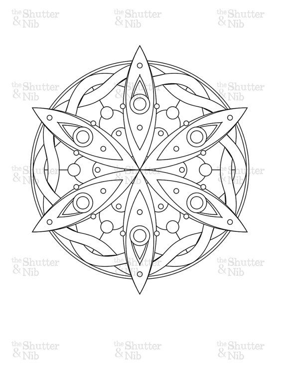 Printable Mandala Download Abstract