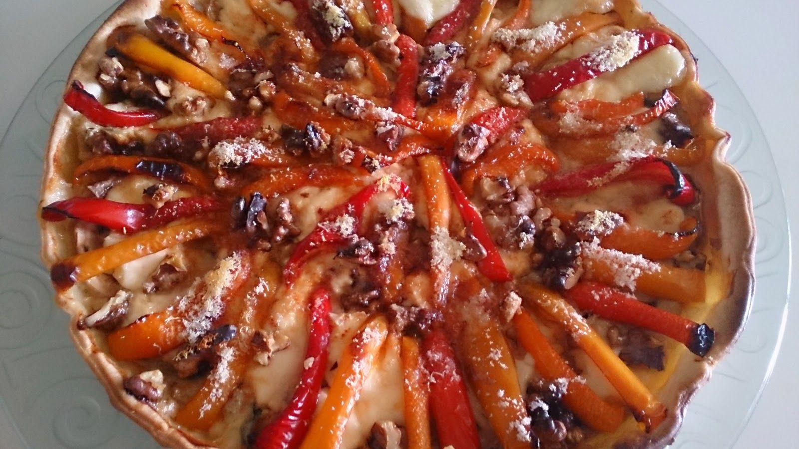Fácil y Sano : Hojaldre de mascarpone  , gorgonzola ,  pimientos ...