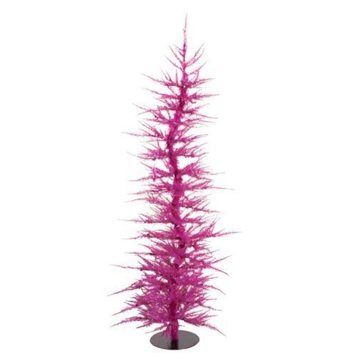 Whimsical Fuschia Laser Artificial Christmas Tree 5