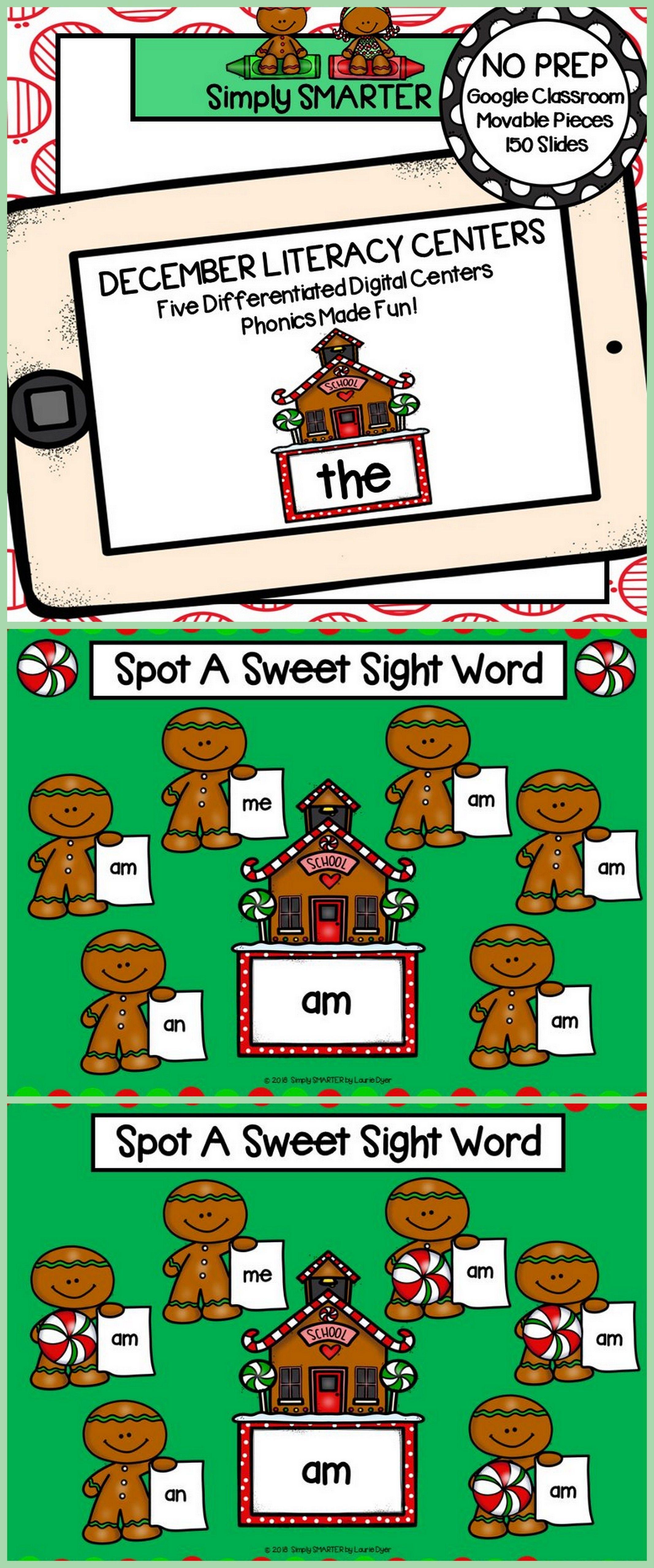 December Kindergarten Digital Literacy Centers For