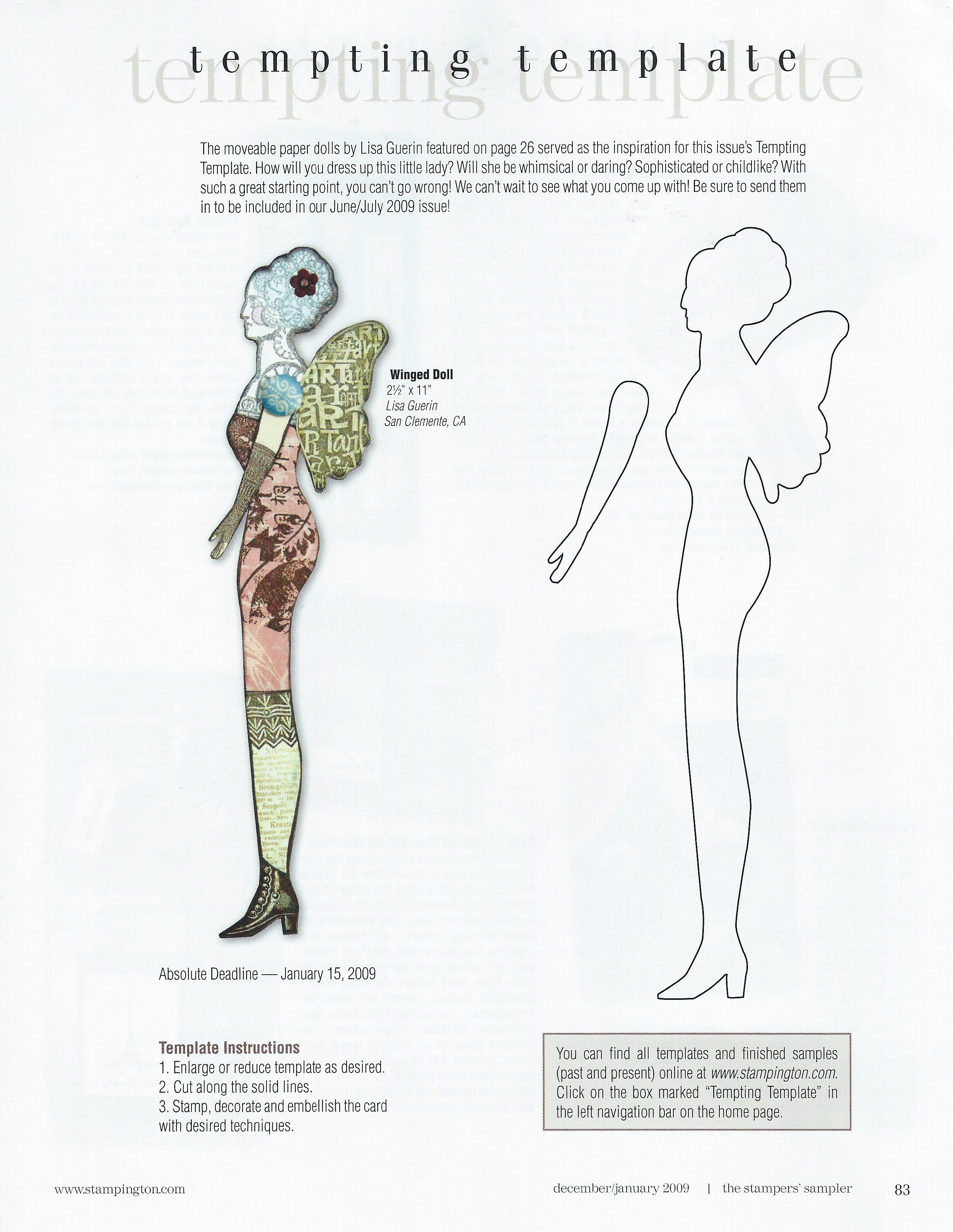 Winged Paper Doll Template Dolls Will Be Dolls Pinterest Paper