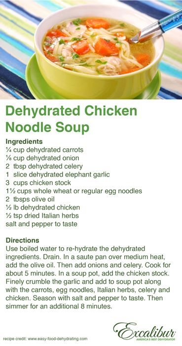 Dehydrated chicken soup cold flu remedy recipe 2 with excalibur dehydrated chicken soup cold flu remedy recipe 2 with excalibur dehydrators forumfinder Image collections