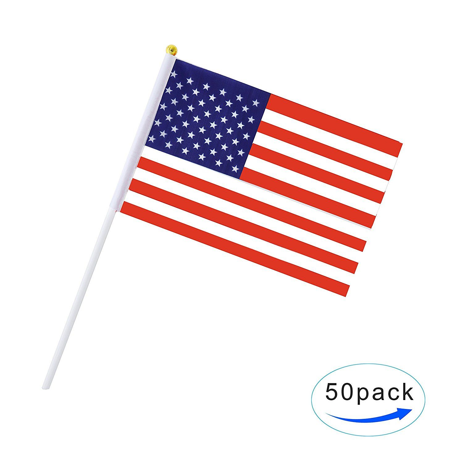 Amazonsmile Us Stick Flag Usa Stick Flag American Stick Flag Small Mini Flag 50 Pack Hand Held Flag Country Party Decoration Supplies Flag Country Mini Flags