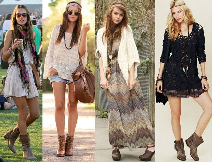 Hippie chic hippie chic looks moda feminina misc - Moda boho chic ...