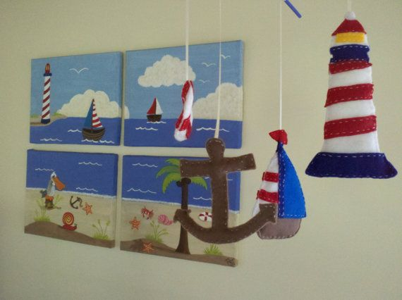 Handmade Sail Away With Me Painting and Matching by KatieBBoutique, $175.00