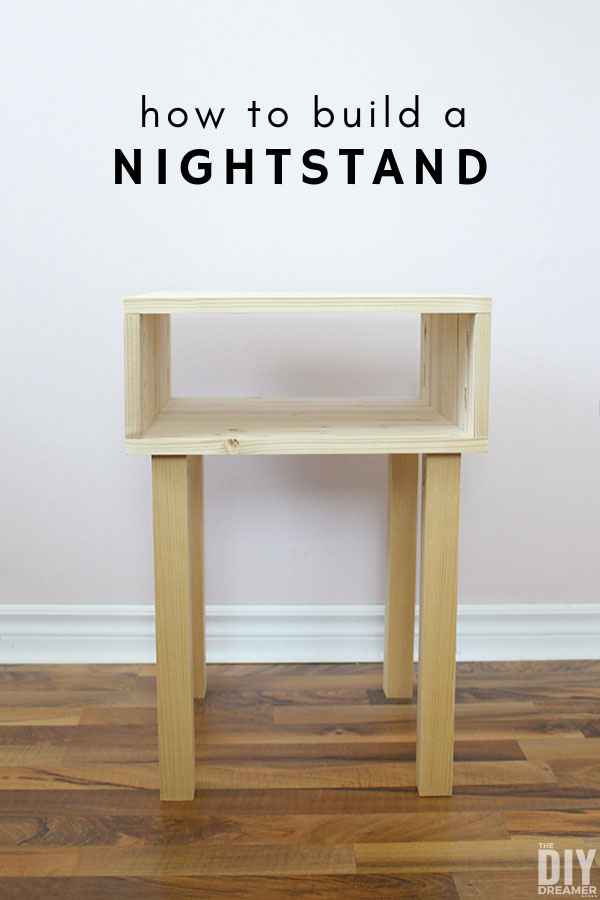 How To Build A Nightstand For Under 40 Diy Nightstand Bedside Table Diy Diy Table