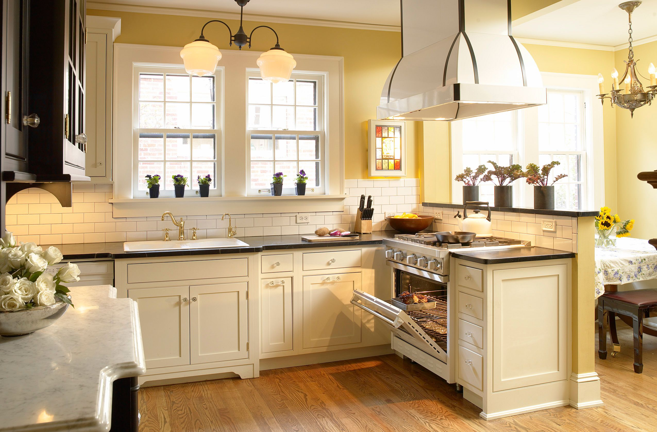 I love this one plain fancy cottage kitchen black for 1930 style kitchen cabinets