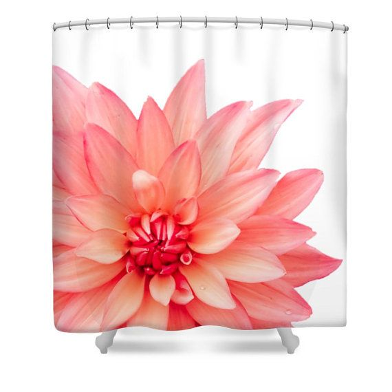 Beautiful Pink Dahlia On Bright White Floral Designer Shower