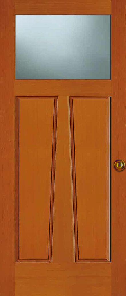 Exterior Solid Douglas Fir Craftsman 1 Lite Store Door Interior Exterior Doors Cottage Door