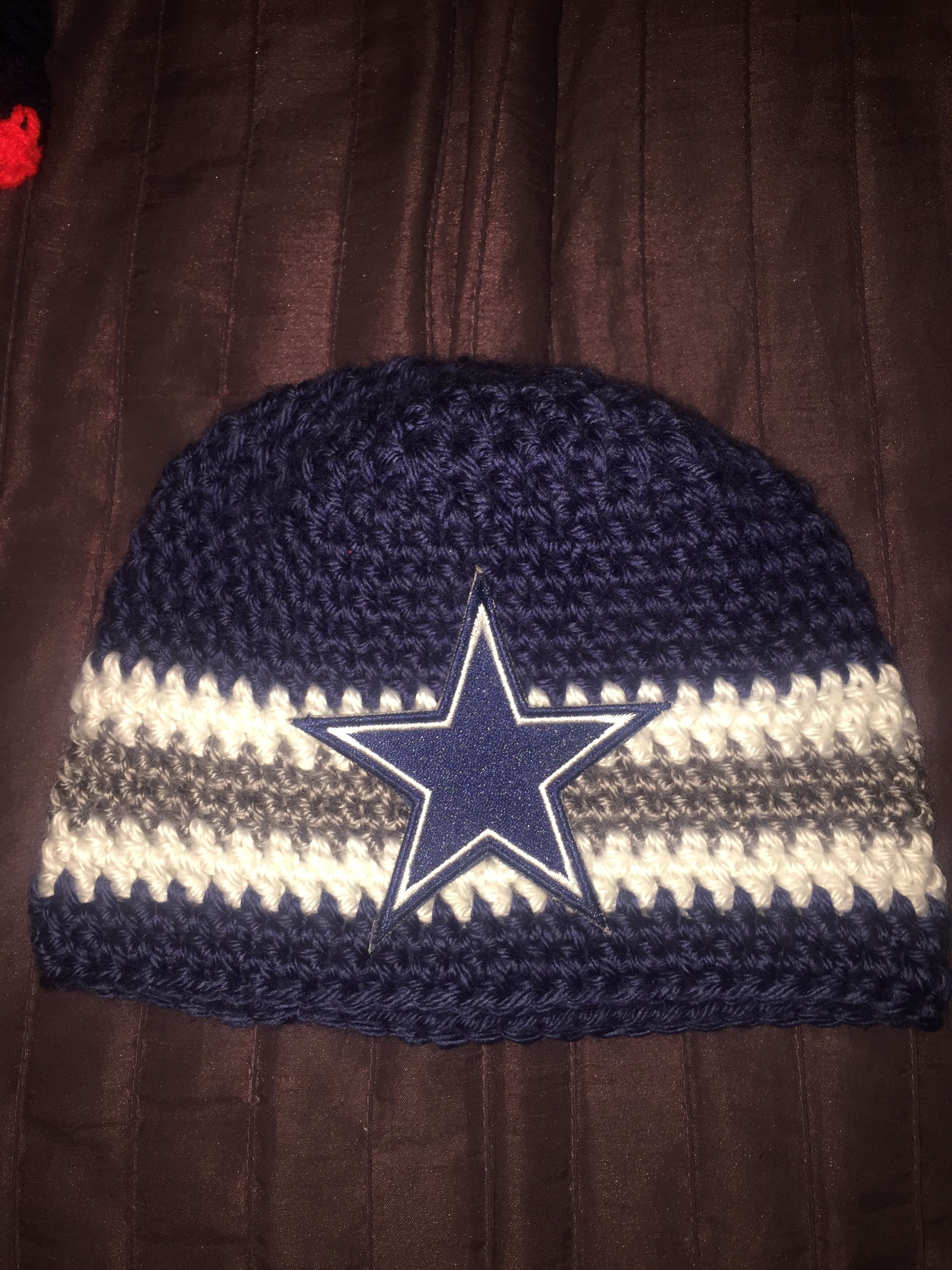 Dallas Cowboy crocheted baby beanie | Items to Crochet | Pinterest ...