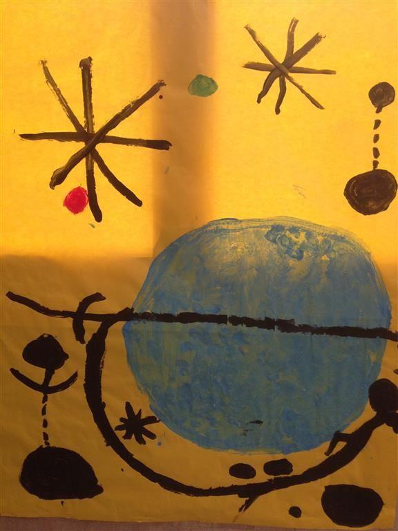 MIRÓ - Material: paper, pintura, pinzells - Nivell: Infantil P3 14/15 Escola Pia Balmes