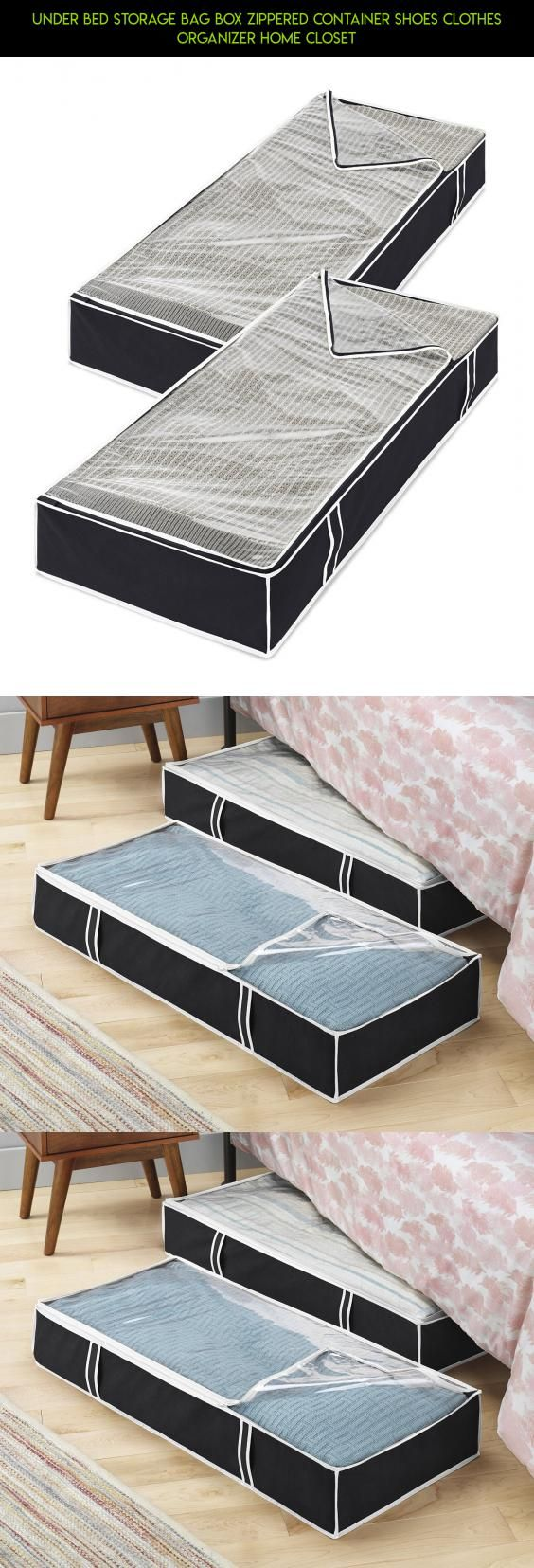 Under Bed Storage Bag Box Zippered Container Shoes Clothes Organizer Home  Closet #tech #kit