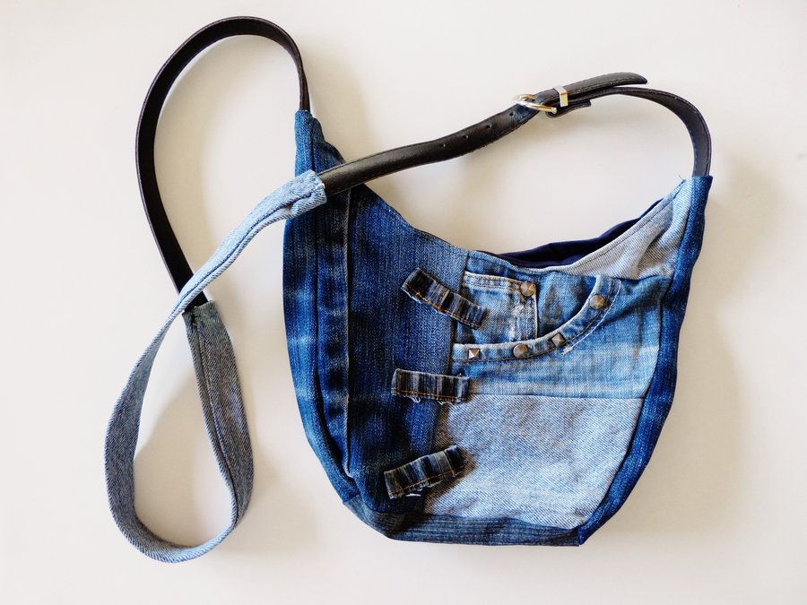 Small Jeans Patchwork Sling Bag by *ajnataya on deviantART ...