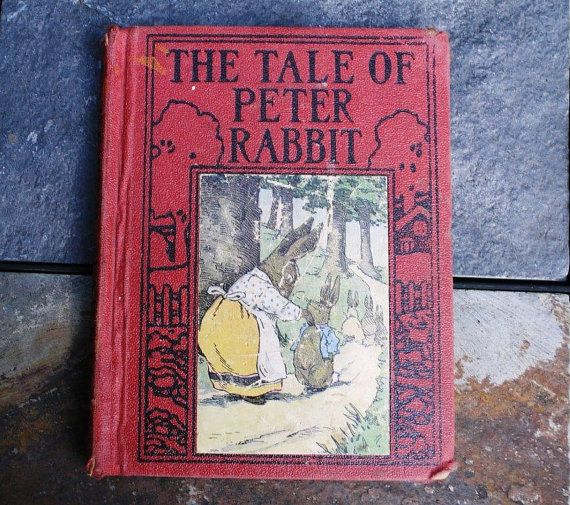 Antique Children's Book The Tale of Peter Rabbit