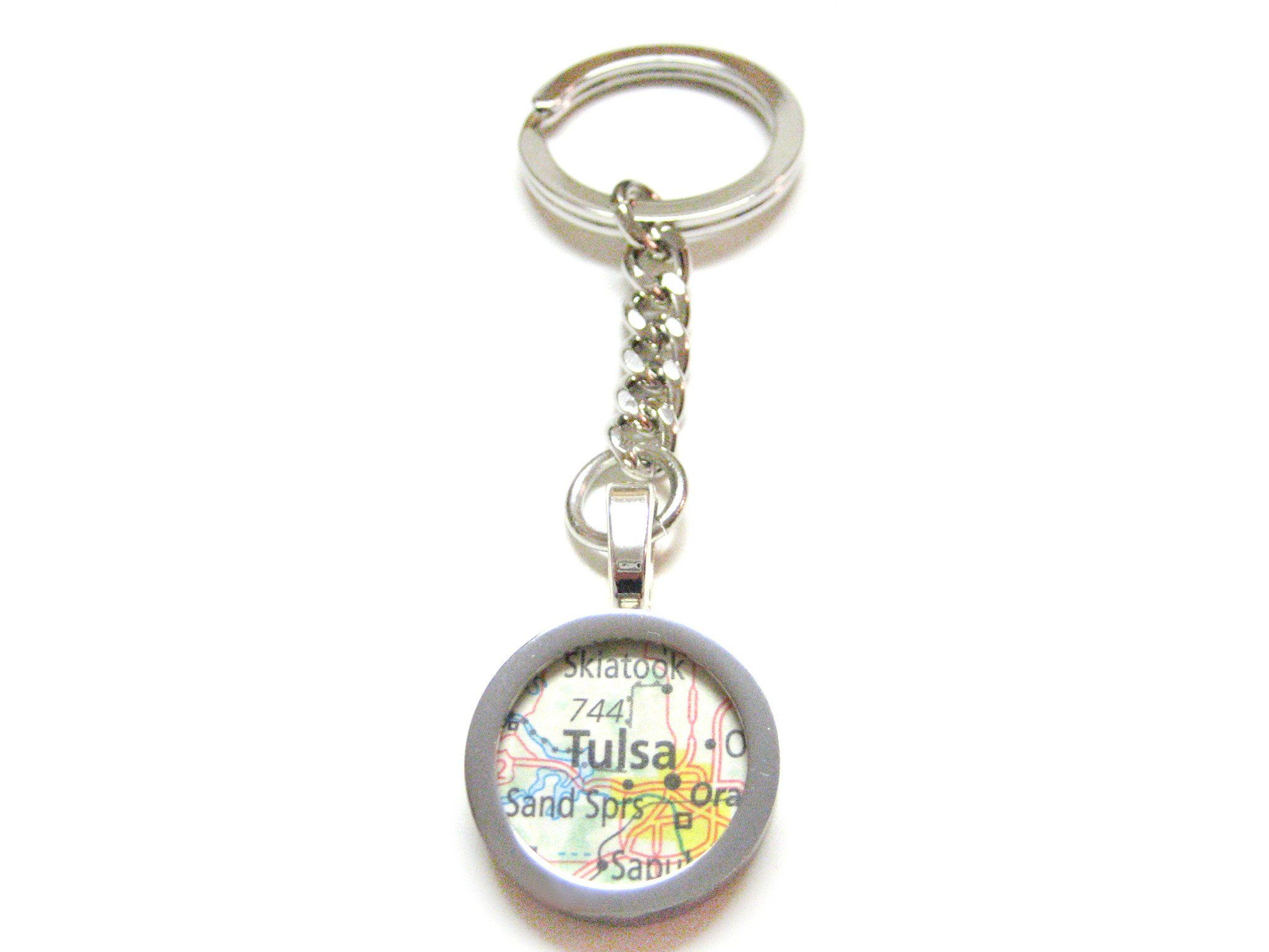 Tulsa Oklahoma Map Pendant Keychain (With images) Map