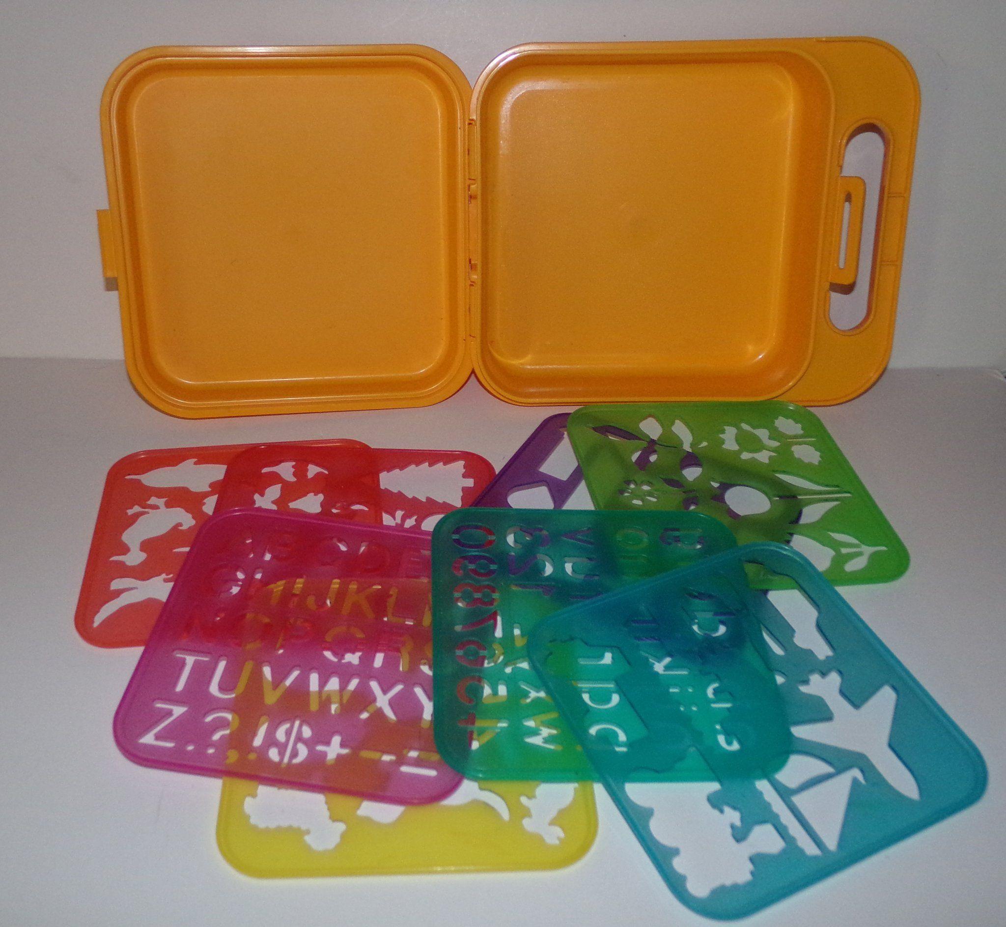 Tupperware Stencils Case Box Tupperware Stencils Letter Stencils