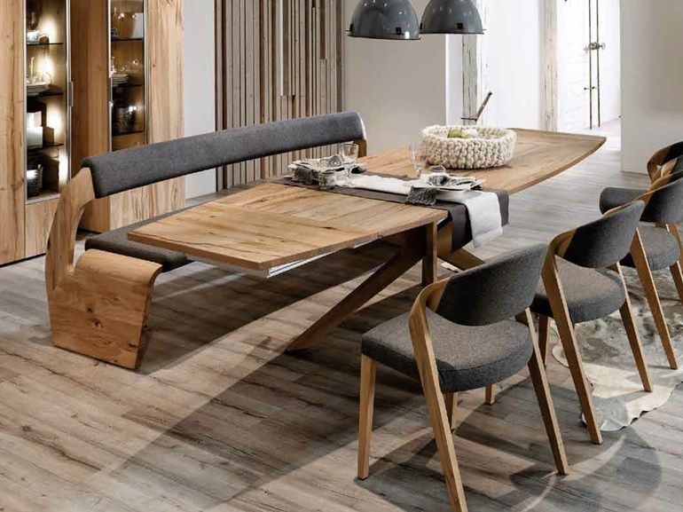 Extending rectangular oak table V-Alpin Collection by Voglauer - esszimmer eckbank voglauer