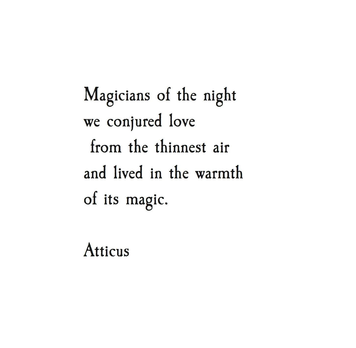 Love Bird Quotes Conjure' Atticuspoetry Atticus Poetry Poem Magic Love Night