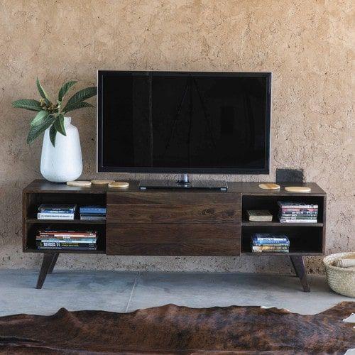 Meuble TV vintage en bois de sheesham massif L 160 cm | Apart et ...