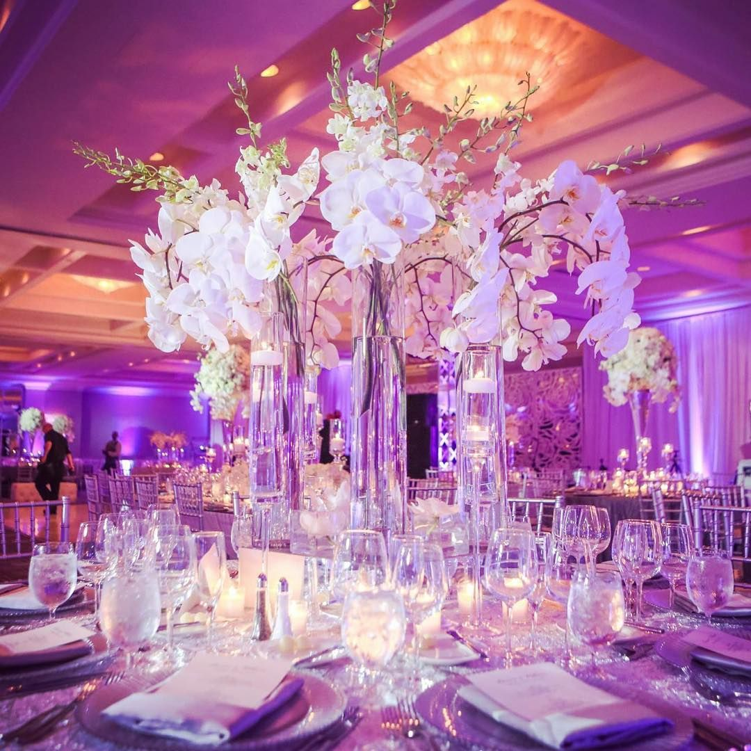 Destination Wedding Reception Ideas: Love The Height With The Dangling Orchids