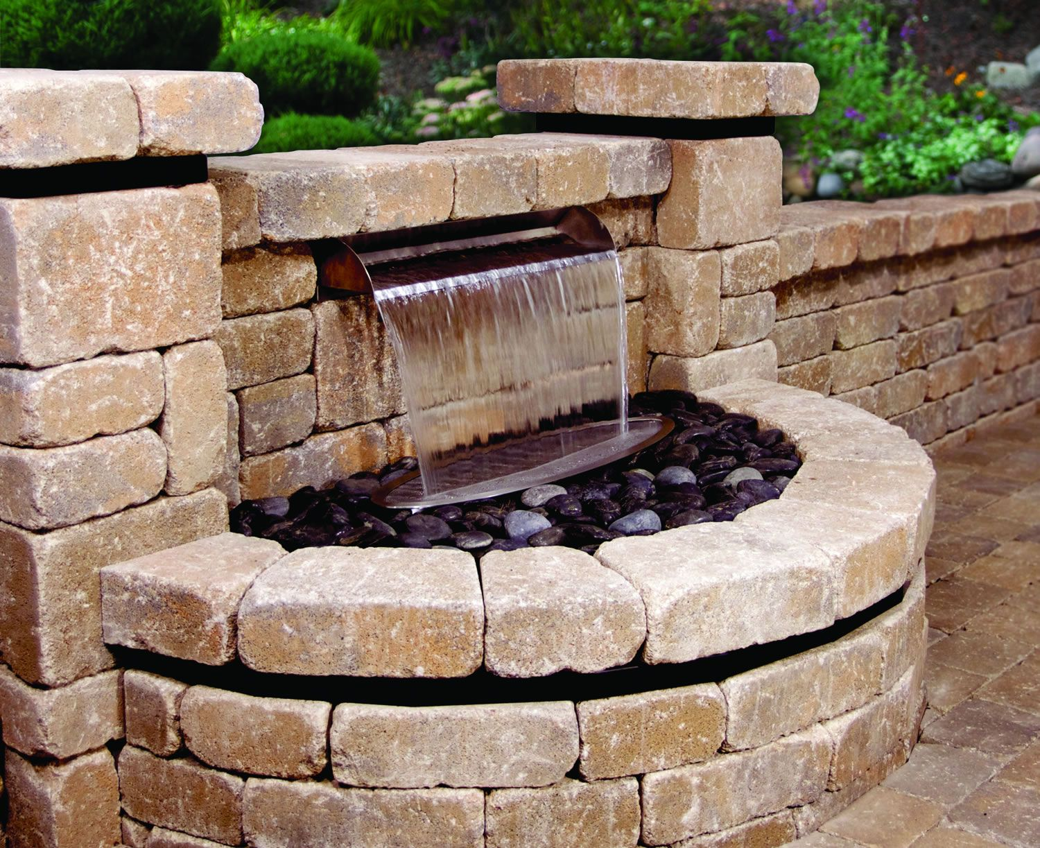 Atlantictm stainless steel scupper water features in
