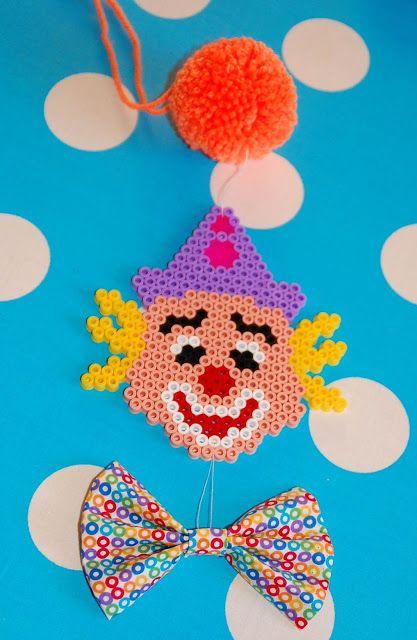 Hama Clown Tischdeko Pinterest Hama Beads Beads And Perler Beads