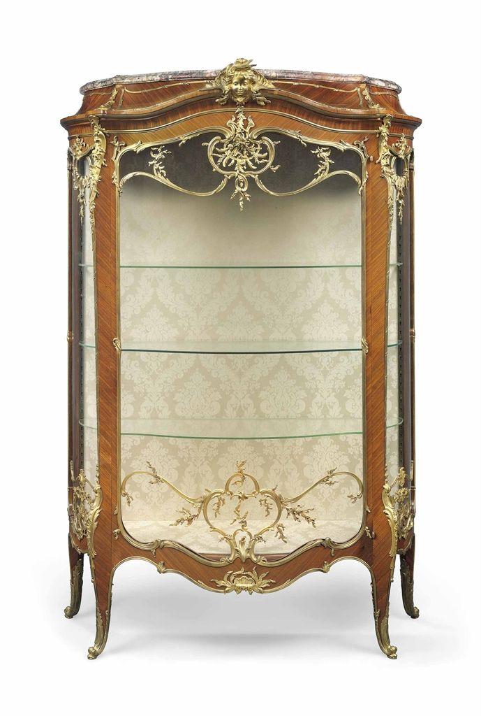 A Fine French Ormolu Mounted Kingwood Vitrine By Francois Linke Index Number 905 The Mounts Desi Victorian Home Decor Victorian Furniture Ornate Furniture