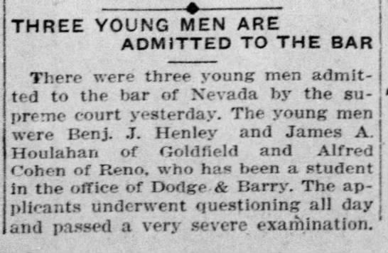 Reno Gazette-Journal, 3 Oct 1911, Tue, Main Edition Benjamin