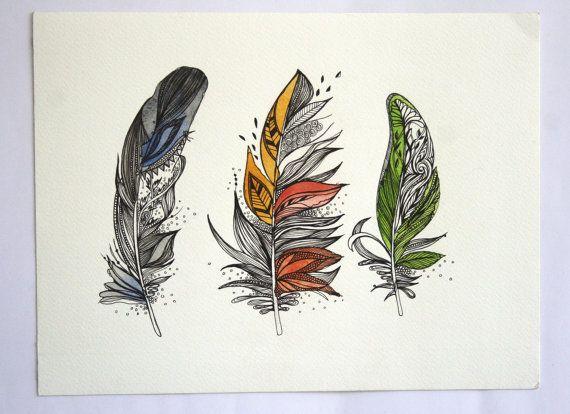 Tatuaje, plumas