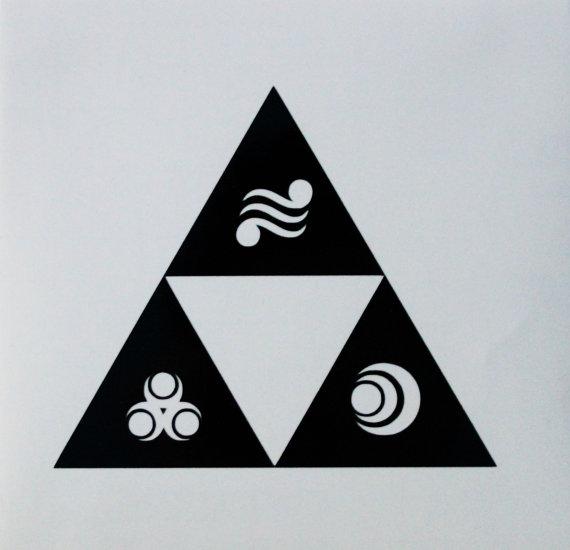 Legend of Zelda Triforce with Goddess Symbols | tattoos