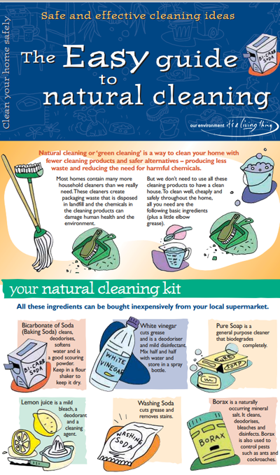 The easy guide to natural cleaning - click through for full PDF file