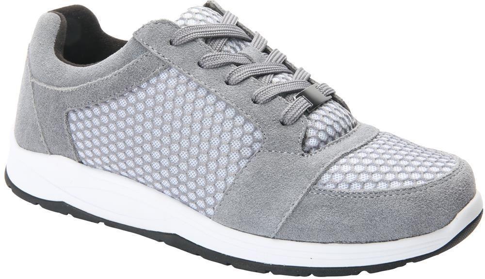 166 drew shoes womens gemini 11m gray athletic diabetic