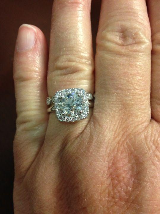 real ritani engagement rings french set diamond halo ritanipinterest - Ritani Wedding Rings