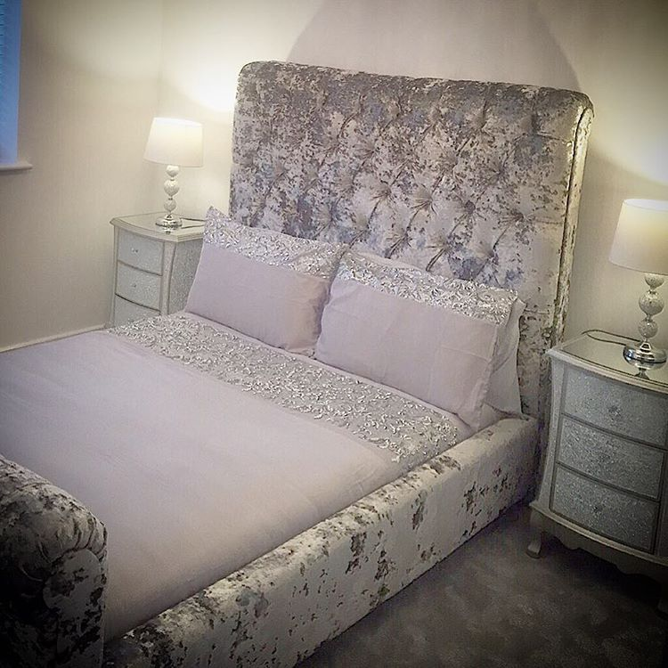 happycustomers with their bespoke double crushed velvet. Black Bedroom Furniture Sets. Home Design Ideas