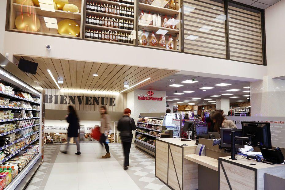 Le Nouveau Concept Premium De Carrefour Market En Centre Ville Carrefour Market Point De Vente Magasin