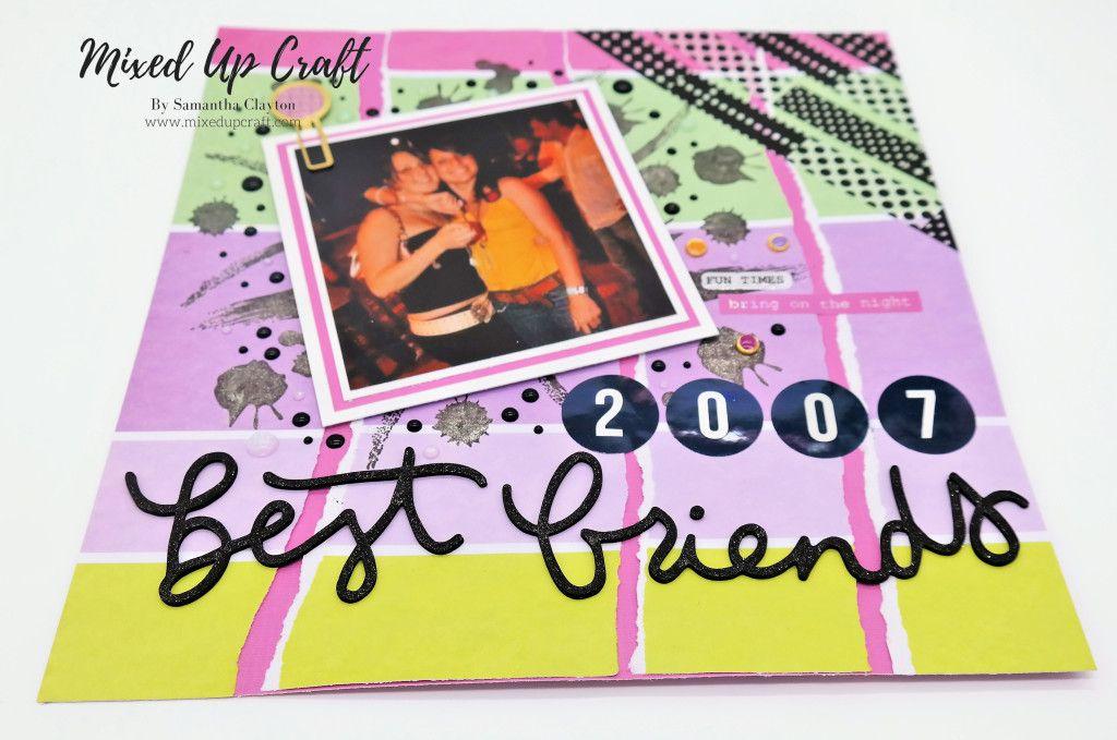 """Best Friends"" Scrapbook Layout | Friend scrapbook ..."