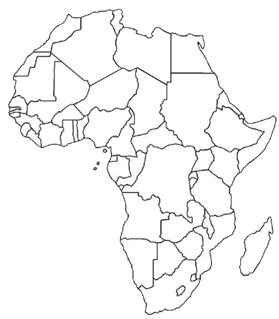 Blank Outline Map of Africa | Africa Map Assignment | Party