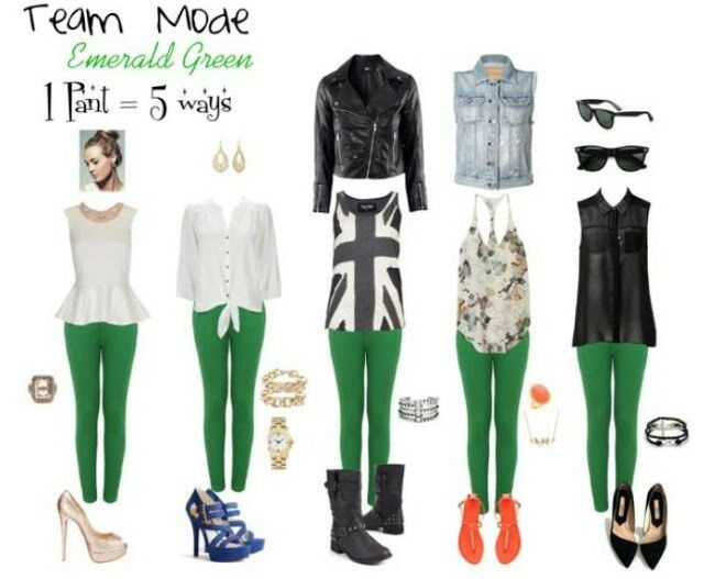 Pantalon Verde Looks Green Pants Outfit Cool Outfits Fashion Outfits