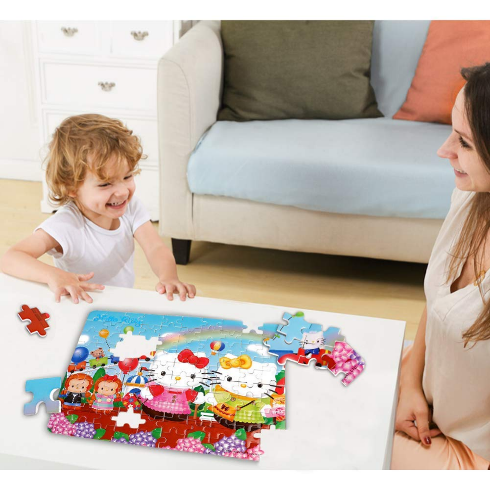 72166cf2a Amazon.com: ZCF Ying Xu Disney Puzzles 60 Piece Glitter Jigsaw Puzzle for  Kids