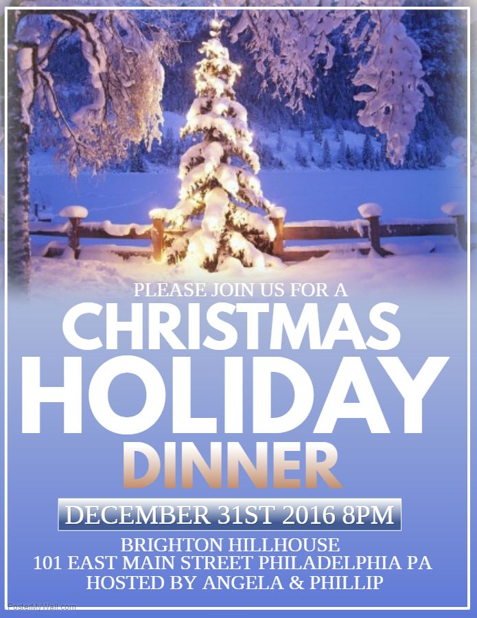 Christmas Holiday Dinner Poster Template  Christmas Poster