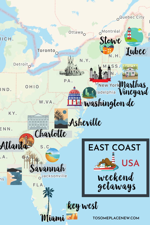 15 Very Best Weekend Getaways On The East Coast East Coast Usa Best Weekend Getaways East Coast Road Trip