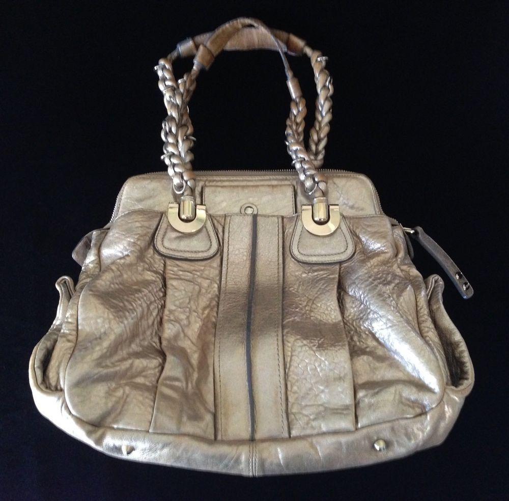 6df20a869bdd Authentic Chloé  Heloise  champagne gold metallic leather hobo bag purse   Chlo  HoboSatchel  leatherhobobags
