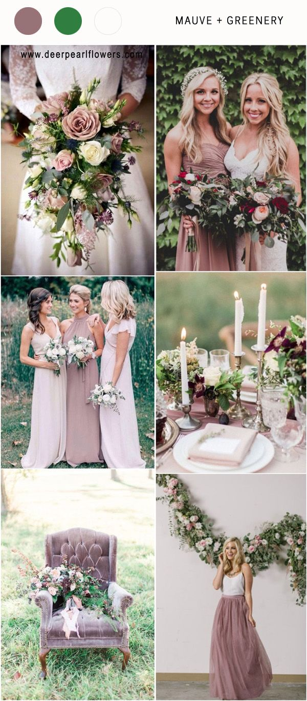 Best 6 Mauve Wedding Color Combos For 2018 Greenery And Weddings