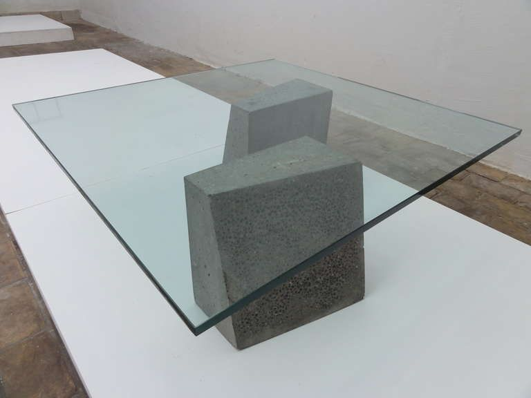 Minimalist Dutch Concrete And Glass Coffee Table Glass Coffee Table Concrete Coffee Table Concrete Table