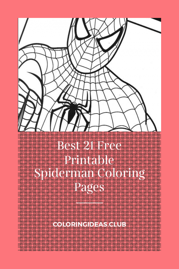 Best 21 Free Printable Spiderman Coloring Pages ...
